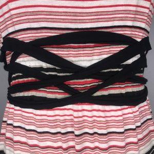 Max Studio Dresses - Max Studio Twist Trim Striped Maxi Dress A190766